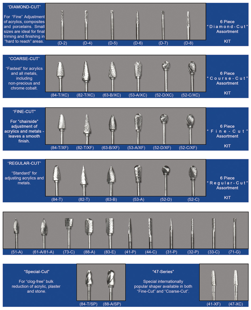Dental Lab Carbide Burs 2