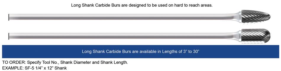Long Shank Carbide Burs